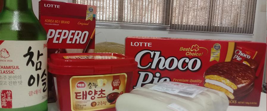 tteok gochujang chocopie pepero soju