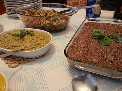 comida árabe kibe
