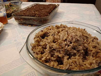 comida árabe mjadra